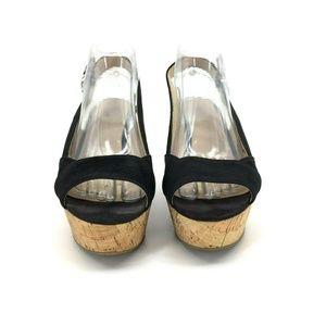 f5c759b9bac Nine West Shoes - Nine West Caballo Sling Back Cork Wedge Size 7